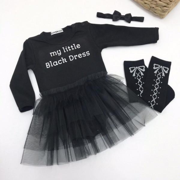Боди с фатином My little black dress - фото