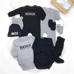 Набор в роддом для новорожденного Красавчик/BOSS - фото
