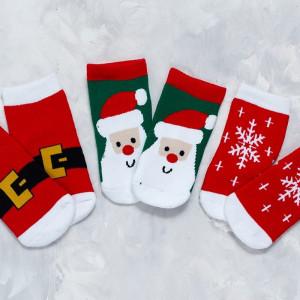 Носочки новогодние новорожденному 0-1 год