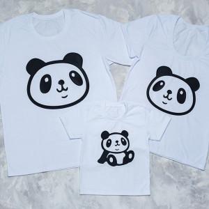 Набор семейных футболок  Panda - фото